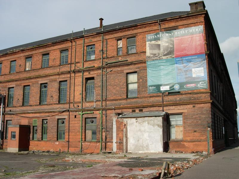 The warehouse on the Belfast docks where the Titanic was built.