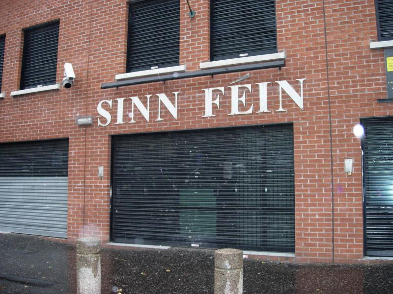 Sinn Fein headquarters in the Falls Road.