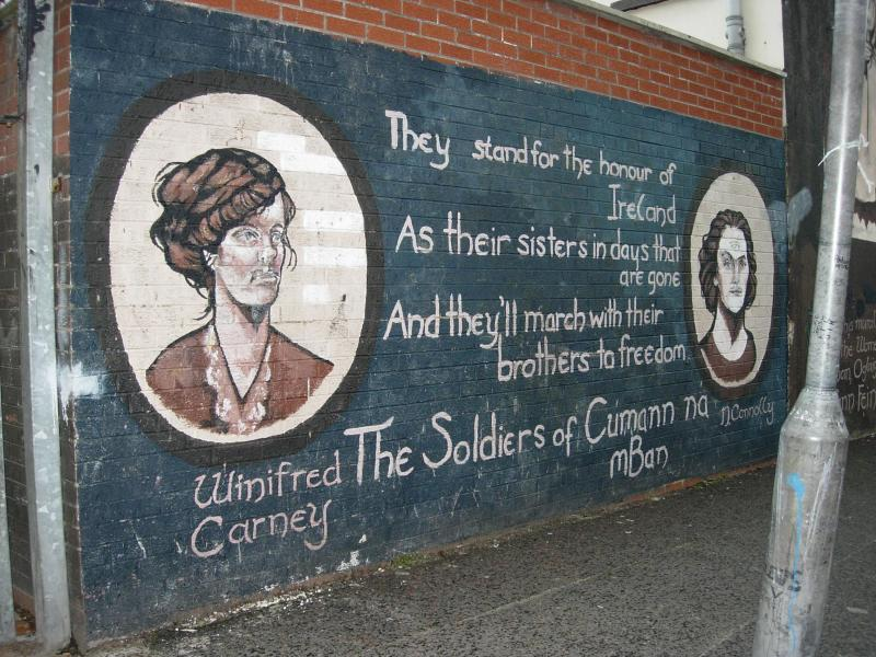 Catholic/Republican murals in the Falls Road area of West Belfast.