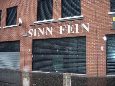 Sinn Fein headquarters in the Falls Road.