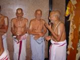 (left to right) Mahavidwan Sri Srivatsankhachriar, Sri Srinivasa Rangachariar Swami , Srimath Andavan Ashramam Srikaryam Swamy