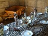 The ethnic table setting