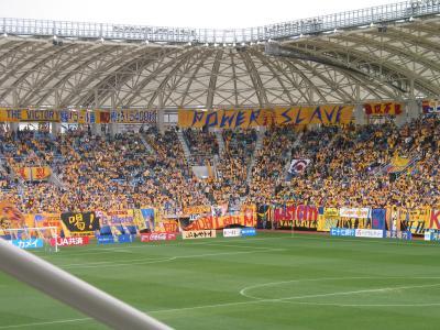 Powerslave!  Soccer match in Sendai .