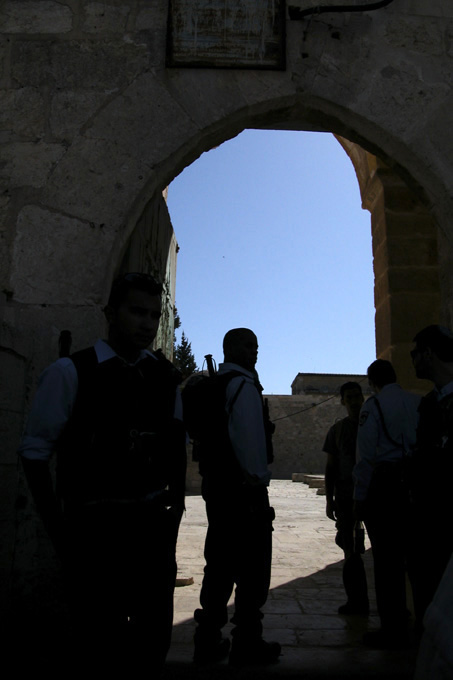 The only entrance to the Mount is through the gate known as the Rambam gate
