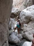 21 Ruth bouldering in Saklikent Gorge