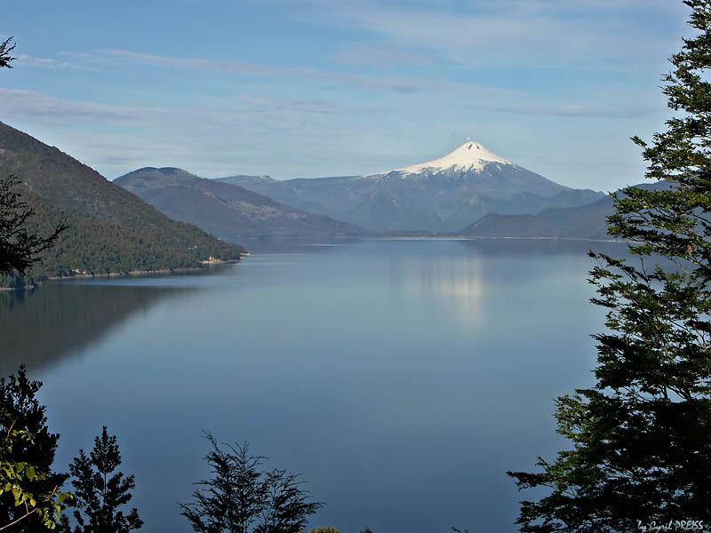 Lago Colico and Volcano Villarica