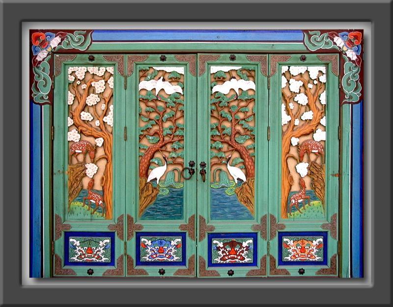 Buddhist Temple Doors