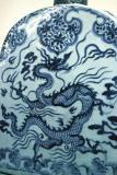 Porcelain dragon flask