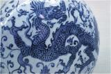 Porcelain flask with dragon