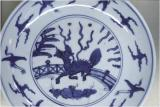 Porcelain with dragon and spider