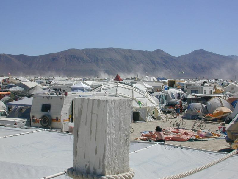 burning man 121 HOTD from roof