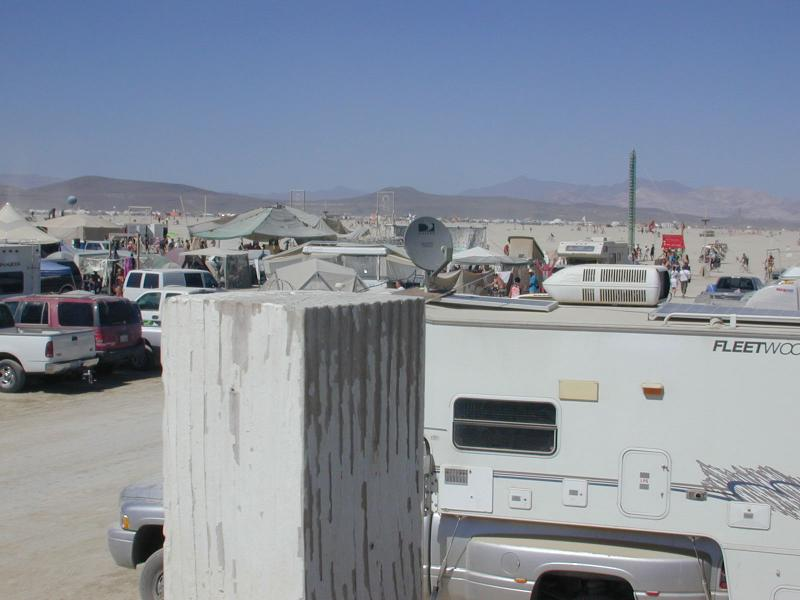 burning man 127 HOTD from roof