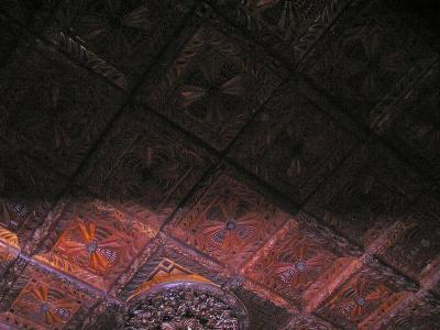 Carved Wood Ceiling Detail