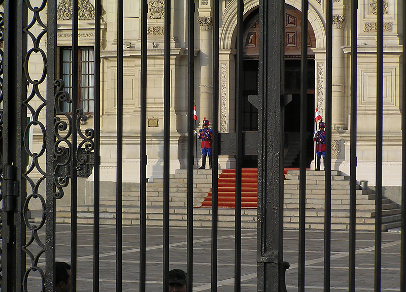 Palace with Guards