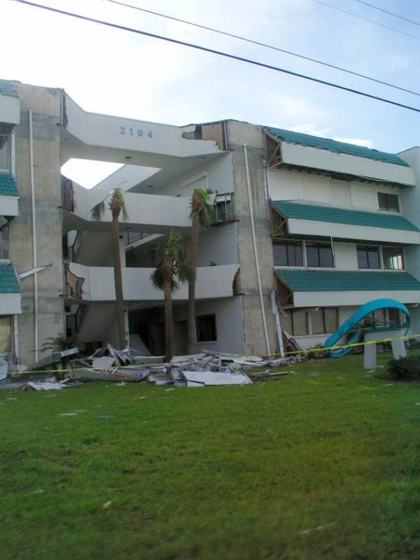Whats left of the medical center in Indian Harbor Beach on Hwy A1A
