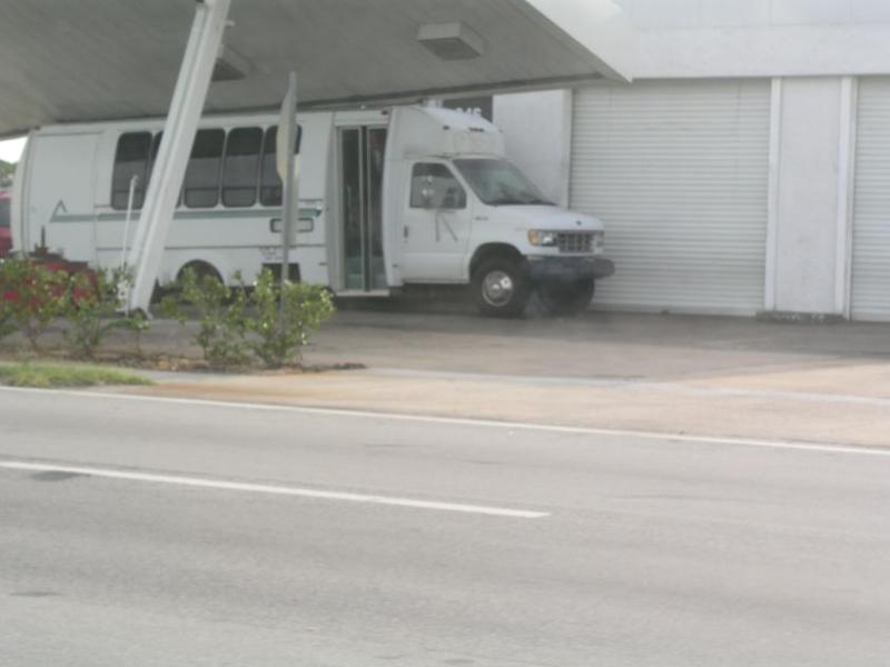 Crushed van on U.S. 1 in Melbourne