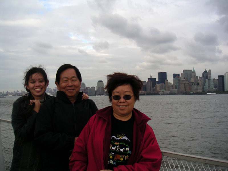 Bin and my folks on the lil boat...