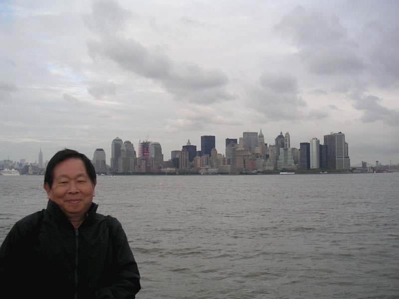 Dad and the NYC skyline
