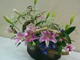 Pink Lilies Full Arrangement