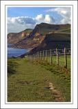 Coast path ~ west of West Bay, Dorset