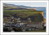 Looking down on the harbour, West Bay, Dorset