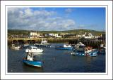 Blue boats ~ the harbour, West Bay, Dorset