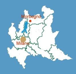 mappa Regione Lombardia, da Milano a Morbegno con la superstrada
