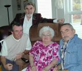 Mom with three of four sons