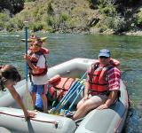 Eva & Sam's 1st Rafting Trip, Salmon River, Stanley ID