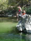 Baumgartner Campground has a wonderful jumping rock into the Boise River