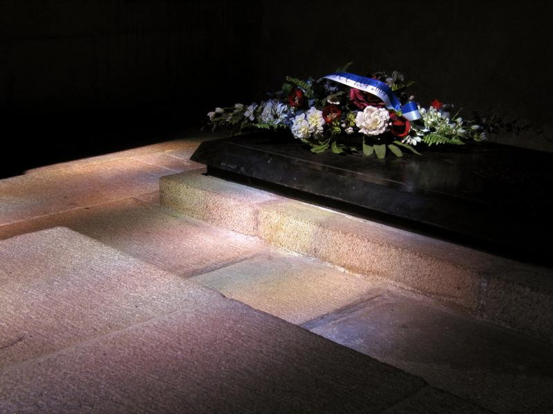 Jacques Cartier's Tomb, St. Vincent's Cathedral, St. Malo, France, 2004