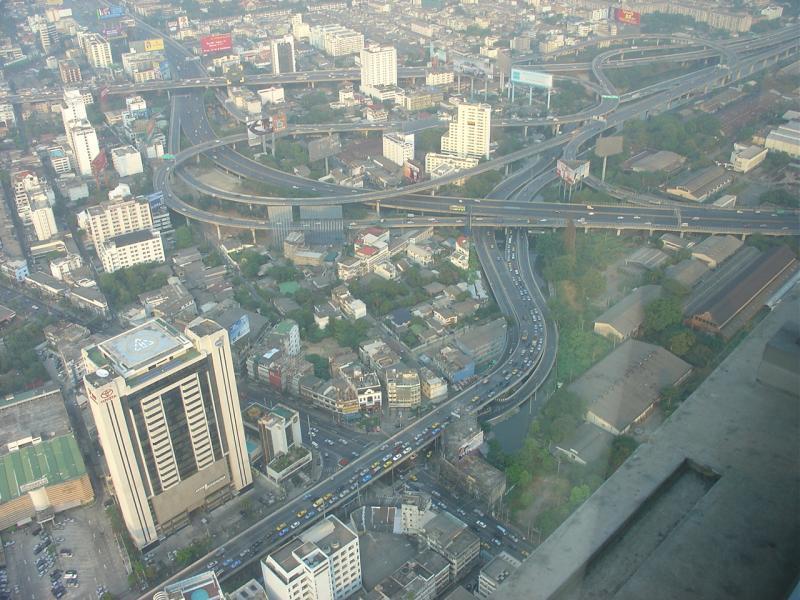 Bangkok view from 77th floor of BaiyokeBangkok Sky Tower