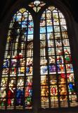 Painted glasses inside Oude Church