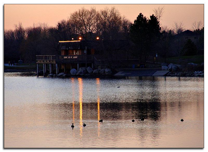 Last light on the pond