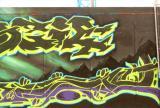 Dublin construction site graffitti