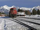Train at Banff Station