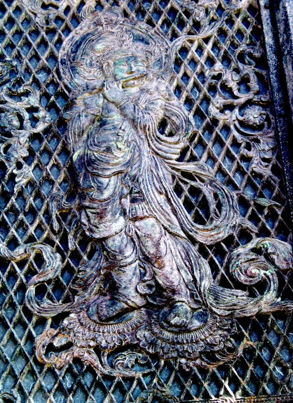 Temple Gate Metal Portrait of Krishna