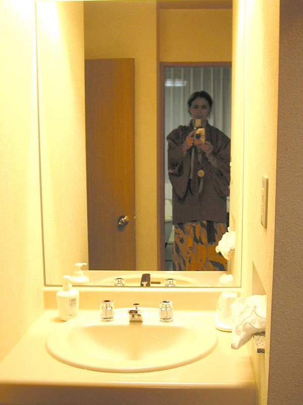 SP while shooting the bathroom