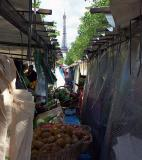 Market near the Eiffel Tower