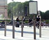 Police on rollerblades