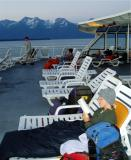 inland passage alaska evening on deck