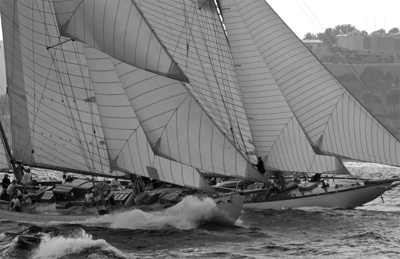 Départ de régate des voiliers classiques