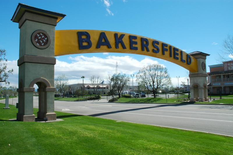 The famous Bakersfield sign