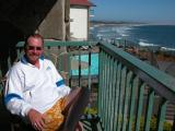 Doug on the balcony, Pismo Beach, California