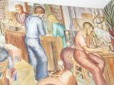 Part of Sue Brown Dietrich's fresco