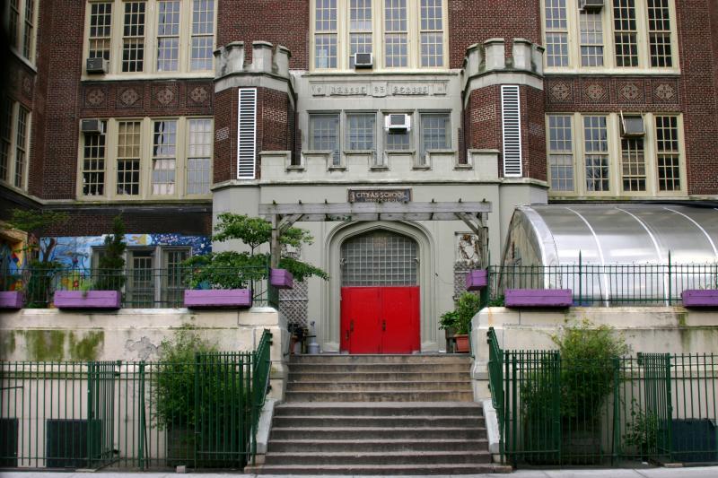 City as School Main Entrance on Clarkson Street in the West Village