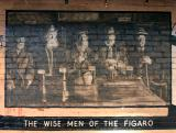 Mural at Le Figaro Sidewalk Cafe in Greenwich Village