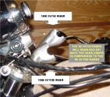 HOW TO RAISE & SET BACK THE HANDLEBARS ON A '96 XV1100, BY USING '90 XV750 RISERS, CLICK ON NEXT AT RIGHT FOR MORE INFORMATION