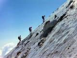 Aneto (3404 m), dernières pentes de glace