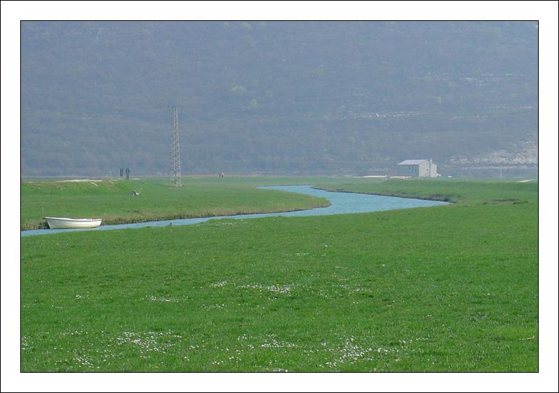 emerald-green river